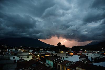 Lightning near Antigua Guatemala