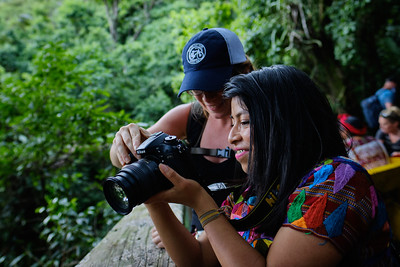 Photographing animals at the Atitlán Nature Reserve in Panajachel