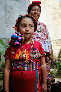 Learning about traditional Mayan dress