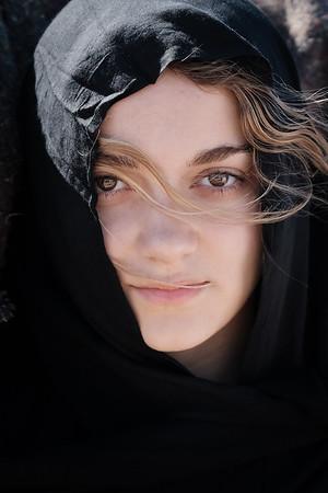 Portrait near Merzouga, Morocco.