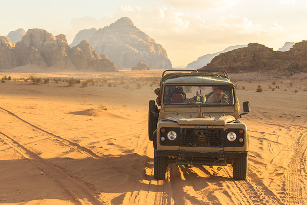 """""""The Defender""""  Going through My Jordan photos....man, what a fun day this was in the Wadi Rum with The Giving Lens."""