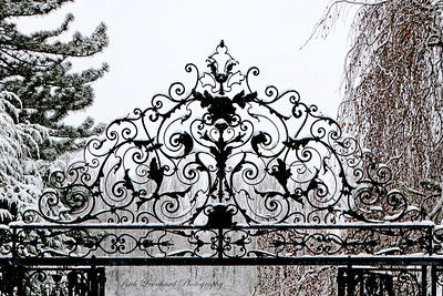 Gate to Walled Garden at Old Westbury Gardens. 2017