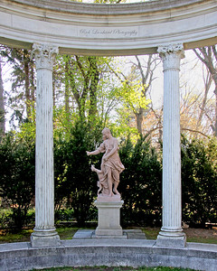 Beautiful Statue and Colonade at Old Westbury Gardens.
