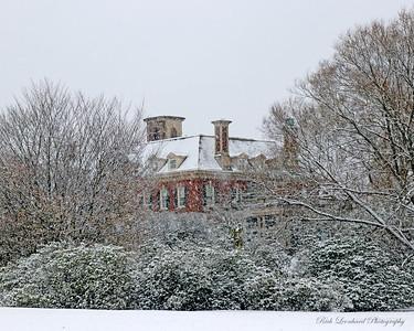 Westbury House at old Westbury Gardens in the snow. 2017.
