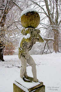 Atlas has the world on his shoulders at Old Westbury Gardens.