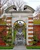 Gate at Walled Garden in Old Westbury Gardens.
