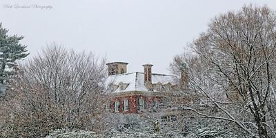 Westbury House in the snow at Old Westbury gardens. 2017.