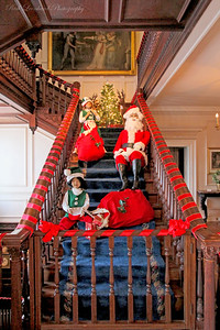 Christmas scene in Westbury House at Old Westbury Gardens.