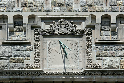Sands Point Preserve, sun dial on castle.
