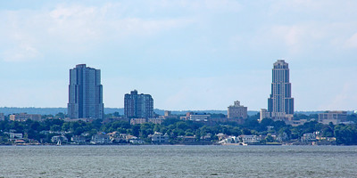 New Rochelle as seen from Sands Point Preserve