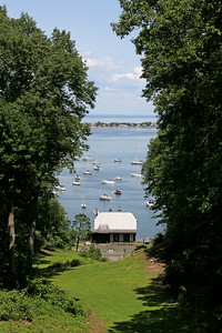 View of harbor from Vanderbilt Estate in Centerport ,NY.