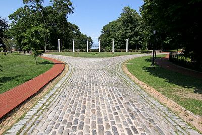 Main driveway at the Vanderbilt Estate in Centerport,NY.