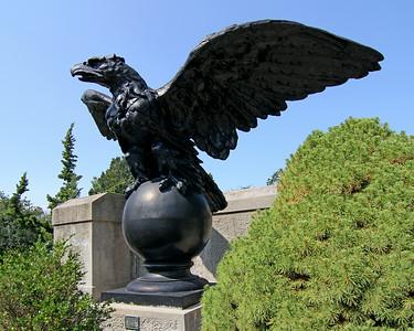 Bird sculpture at entry point of Vanderbilt Estate in Centerport,NY.