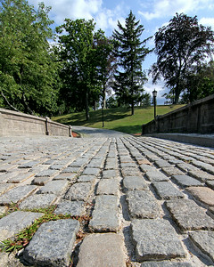 Cobblestone driveway at Vanderbilt Estate in Centerport,NY.