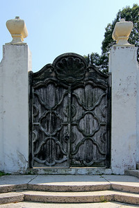 Rustic gate at Vanderbilt Estate in Centerport,NY.