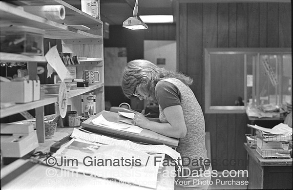 Carol O'Neil, Cycle News East Production Manager 1972