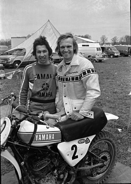Appalachia 1974 AMA National Motocross, Bill Buchka and Pierre Karsmakers, Yamaha YZ250 Monoshock