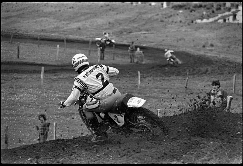 Appalachia 1974 AMA National Motocross - 250cc Class winner Pierre Karsmakes, Yamaha