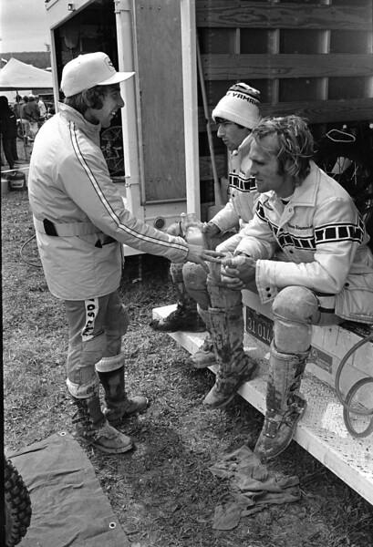 Jimmy Weinert, Pierre Karsmakers, Mike Hartwig, Appalachia AMA National Motocross 1974