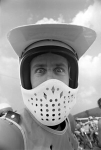 "1976 AMA National Motocross new boy Bob ""Hurricane"" Hannah."