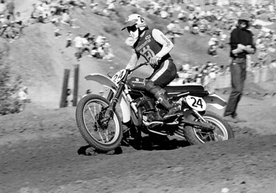 Brad Lackey at 1976 Saddlebck, California, Trans-AMA race. Brad also raced for the Husqvarna factory in the 1976 500cc Motocross World Championships.
