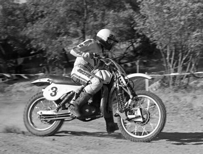 Roger DeCoster / Suzuki RN370 with Ribi front forks. Photo © Jim Gianatsis