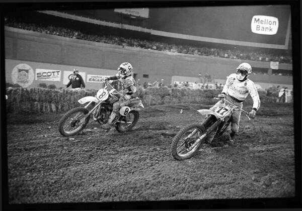 Chuck Sun, Jimmy Weinert, 1978 Pittsburg Three Rivers Supercross