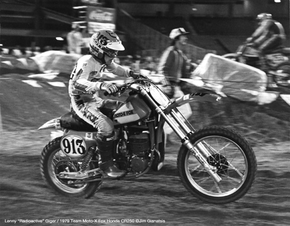 "Eeam Fox Rider Lenny ""Roadioactive"" Giger, 1979 AMA Supercross"