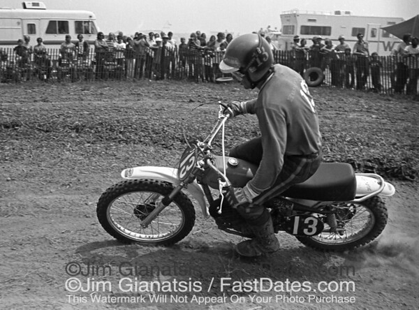 1973 Husqvarna team rider Nils Arne Nilson at the 125cc USGP, Saint Louis, Missouri.