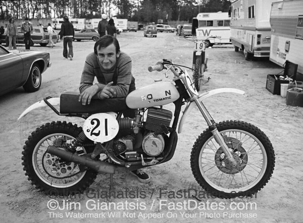 "Florida sand track specialist ""Rokon Don"" Kudalski beat the Japanese factory teams in the Open class during the 1977 Florida Series with this 340cc Rokon pull-start motocrosser."