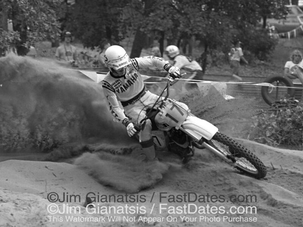 Broc Glover, 1977 works Yamaha OW125, the last air cooled bike.