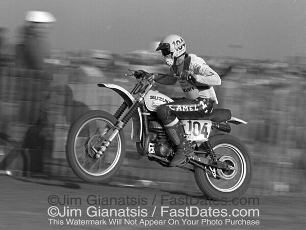 Roger DeCoster, 500cc World Champion, 1976 Saddleback Trans-Am.