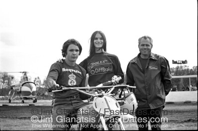Mark Blackwell, 1971 AMA 500cc National Championship on a Husqvarna CR400, accepting a race win at the 1972 Florida Series,