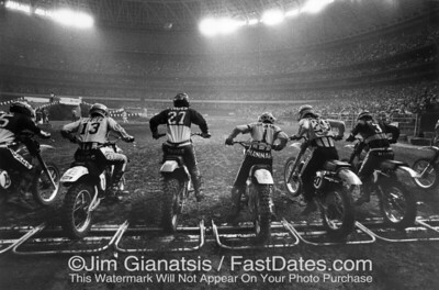 Houston Astrodome Supercross Start  1978
