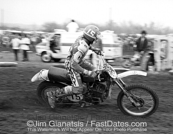 Kent Howerton, Husqvarna 360, at the 1975 St. Louis Trasn-AM.
