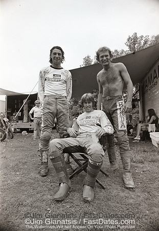 Steve Stackable, Bob Hannah, Jim Pomery wear Griffths Pants. 1976