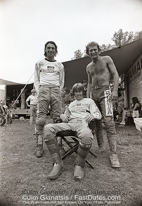 Steve Stackable, Bob Hannah, Jim Pomery wear Griffths Pants. 1976