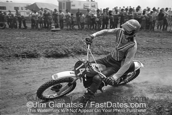 1973 Husqvarna team rider Gilbert deRoover at the 125cc USGP, Saint Louis, Missouri.