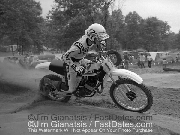 Broc Glover, 1977 National Champion on the works Yamaha OW125, the last air cooled bike.