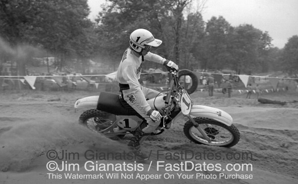 Bob Hannah, reigning 1976 AMA 125cc National Champion, on the 1977 works Yamaha OW125, the last air cooled bike.