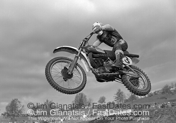 Kent Howerton at the 1977 Red Bud National on his Husqvarma CR250.