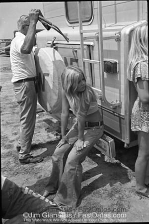 Pit Tootsie at the 1973, 125cc USGP, Saint Louis, Missouri.