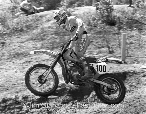 Bob Hannah on his Yamaha OW26 at the 1981 Southwick  250cc National.
