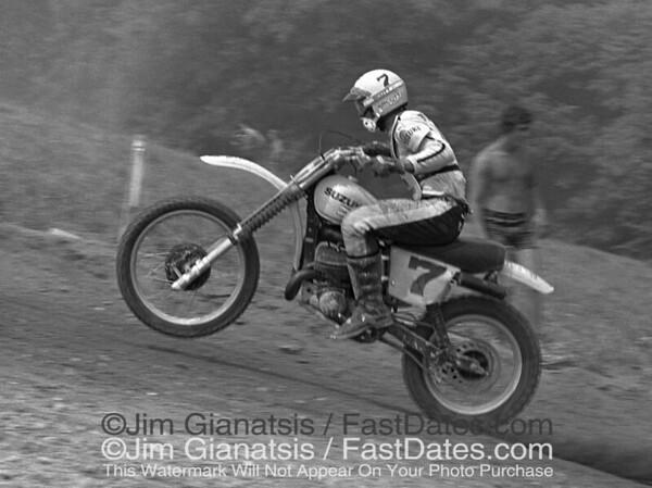 Danny LaPorte, Suzuki RN465, 1977 Unadilla National.