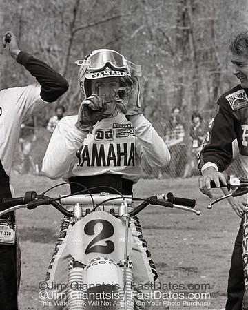 "Bob Hannah is ""Number 1"", 1977 Yamaha OW 250."