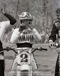 "Bob Hannah is ""Number 1"", 1977 Yamaha OW 250."