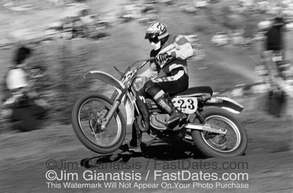 Gaylon Mosier, Maico 450 at the 1976 Saddleback Trans-AM.