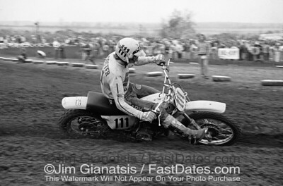 Roger Decoster, Suzuki RN370 at the 1975 St. Louis Trans-AM, Series Winner.