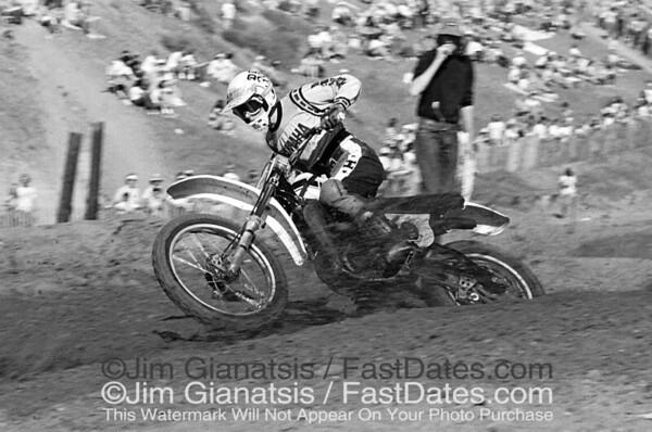 Broc Glover, Yamaha OW26 at the 1976 Saddleback Trans-AM.