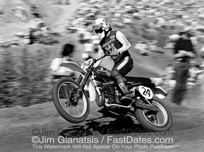 Brad Lackey, Husqvarna CR360 at the 1976 Saddleback Trans-AM.